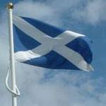 Флаг Святого Эндрю - флаг Шотландии